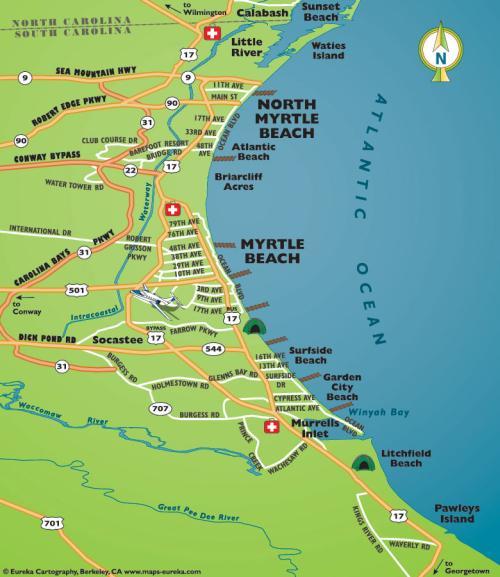 Sc Tourist Map – Map of downtown Charleston Charleston South ...